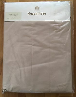New - Sanderson - Stone King Valance 38Cm Skirt - 180 Thread - Easy Care Percale