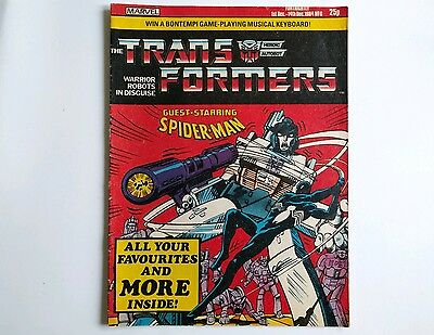 Transformers comic UK issue 6 Marvel 1984 G1
