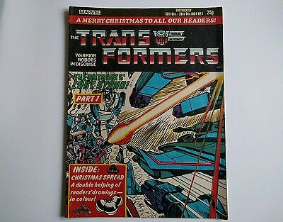 Transformers comic UK issue 7 Marvel 1984 G1