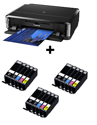 Canon PIXMA iP7250 WiFi CD / DVD USB Photo Printer + 3 Sets Of XL Inks Included!