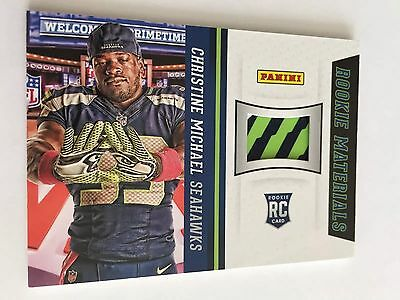 Christine Michael, Panini 2013, Rookie Materials Gloves, , Seahawks