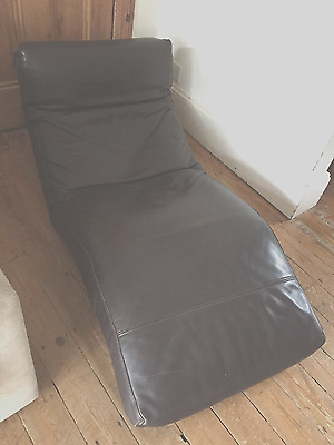 Brown Leather Chaise - from HEALS