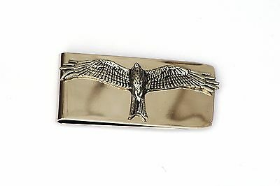 Red Kite Pewter Motif Money Clip Free Engraving Gift Falconry Present