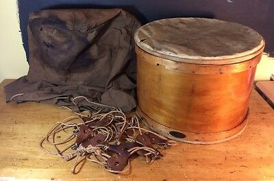 Rope Tension Drum George B. Stone and Son Marching Band Maple W/Bag Light Bass