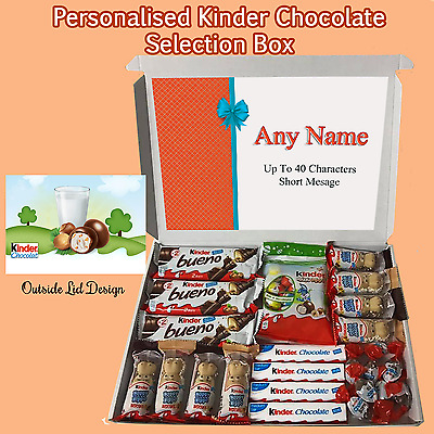 Any Occasion Personalised Chocolate Kinder Selection Box Gift Large Hamper
