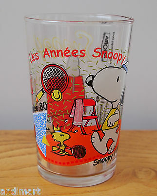 Snoopy - French Glass - Les Années Snoopy 80 - Peanuts - Schulz - Ship Worldwide