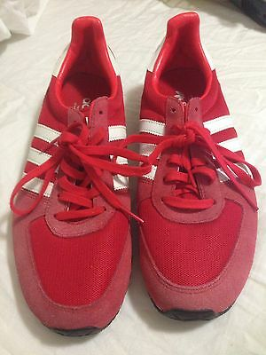 addidas trainers Red And White Stripes Size 7