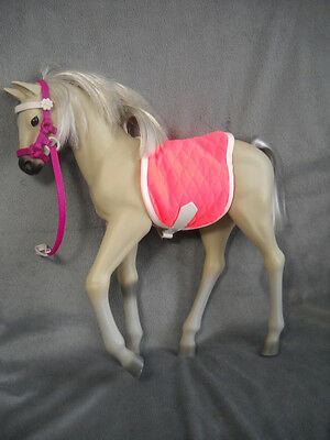"""Our Generation Mustang Foal Standing Battat Gray Silver Horse for 18""""Doll Battat"""