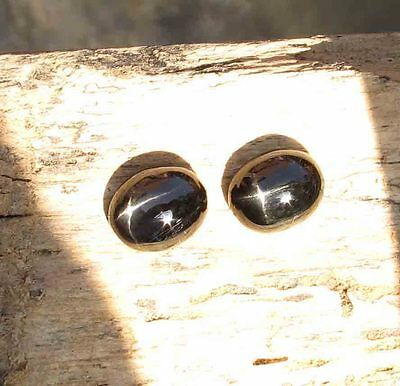 12.50 CT Natural Black Star 4 Rays Oval Cabochon Diopside 10x12 mm For Ring