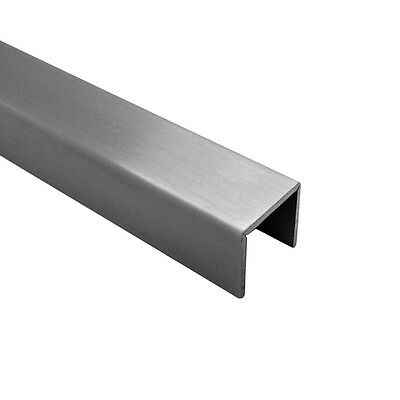 Satin Anodised Aluminium Capping Rail/Shower Channel 1x3m Length (8-10mm Glass)