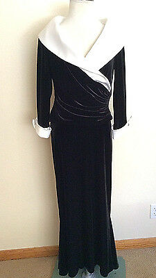 Joseph Ribkoff 2 piece velvet outfit long skirt and collared top *12 Canada