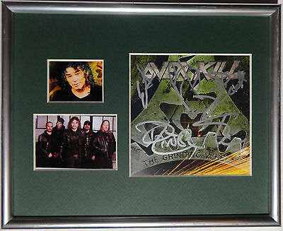 Signed Overkill Autographed Grinding Wheel Cd Framed Display W/pics