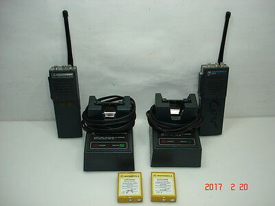 Motorola HT210 & HT220 VHF Handheld Radios with Chargers
