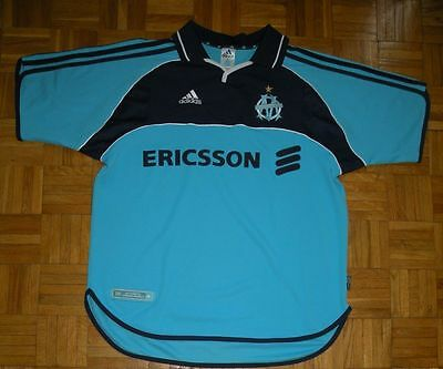 "Olympique Marseille 2000/2001 ""L"" Adidas Maglia Away Shirt Jersey Trikot"