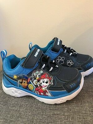 Toddler Boys 6 Paw Patrol Light Up Blue Play Sneakers Tennis Shoes Velcro