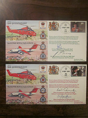 The Queens Flight - 2 different covers - signed - Thurston - King