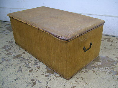 Antique Shirt Bamboo Rattan Chest Trunk -2