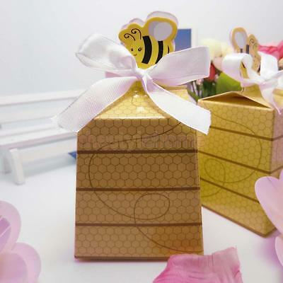 Little Bee Pattern Gift Bags Candy Boxes for Baby Shower Wedding Party Decor