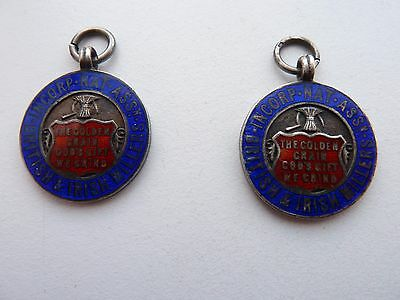 2 Silver British & Irish Millers Medals To WHALLEY, 1923/4