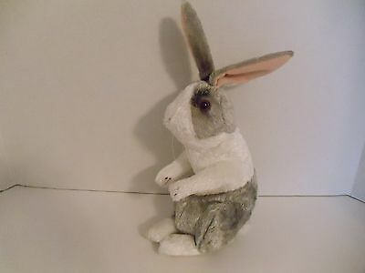 "Applause  Gray and White  Plush 11"" Bunny"