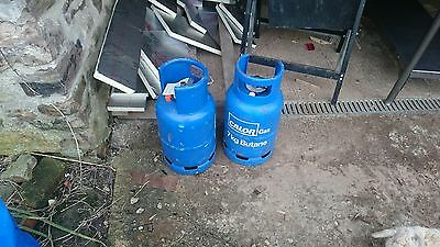 calor gas 7kg butane gas bottle X2