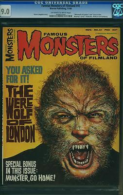 FAMOUS MONSTERS OF FILMLAND 41. cgc.9.0
