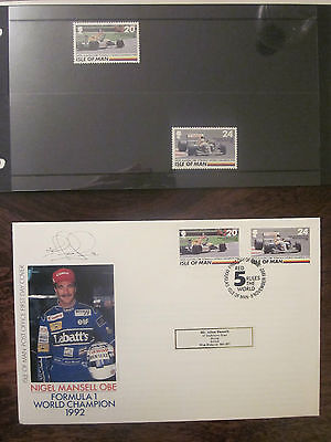 Isle of Man - Nigel Mansell - stamps and cover