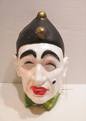 Sad Clown Mime Vintage Plastic Halloween Mask Made In West Germany Pagliacci