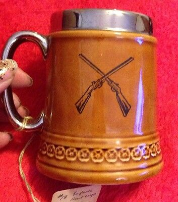 Vintage Lord Nelson Pottery Hunting Scene Brown Mug/Small Stein