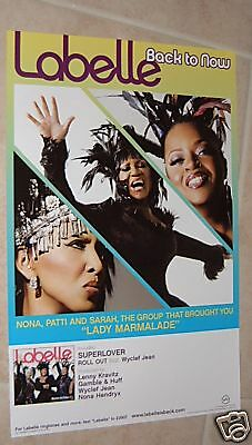 Labelle poster - promo poster - Patti Labelle poster - Back To Now