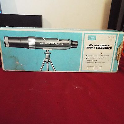 vintage 8x-25x30mm zoom telescope from Sears