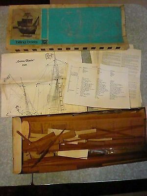 Vintage Billing Boats Santa Maria Wooden Ship Kit