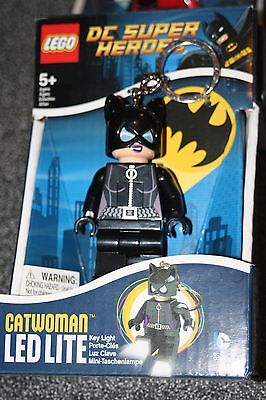 Lego DC Super Heroes LED Light Up Keychain - Cat Woman Catwoman