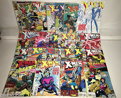 X-MEN Comic Lot of 25 Marvel Comics Modern with a couple Copper & Bronze  ***430