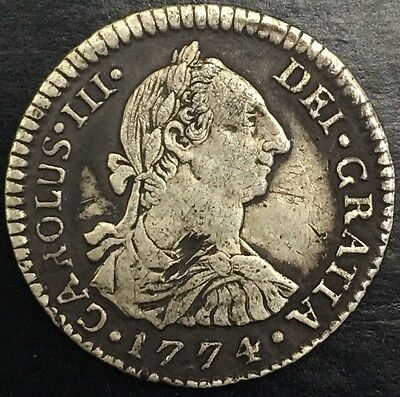 1774 Bolivia 1 Real Foreign Silver Colonial Coin