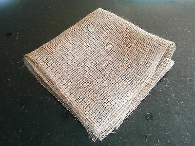 12 Hessian Liners 45cm x 45cm Square for marginal plant baskets and Lily baskets
