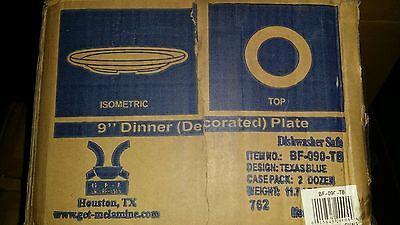 GET Enterprises inc Texas Blue Centennial Series Melamine Round Plate, 9IN 2DZN
