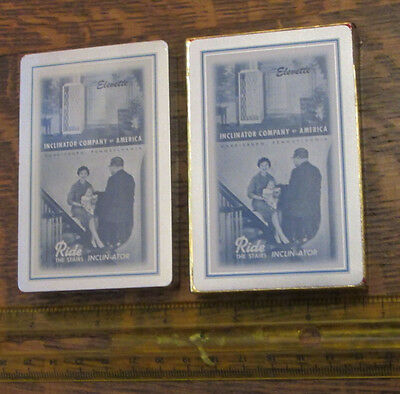 Old Vintage Unused Meinhardt Elevator Reading Pa Inclinator Playing Cards Sealed