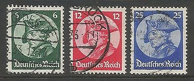 1933 Sg490-2 Opening Of Reichstag Used Cv £33