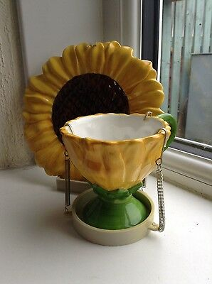 sunflower cup and saucer