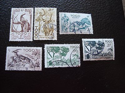 TOGO - timbre yvert et tellier n° 240 243 247 248 251 252 obl (A33) stamp (A)