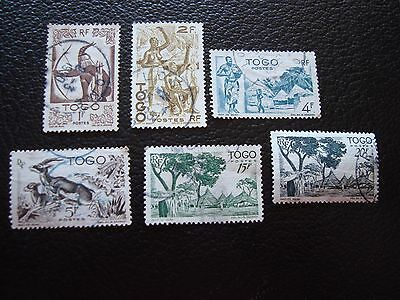 TOGO - timbre yvert et tellier n° 240 243 247 248 251 252 obl (A33) stamp (E)