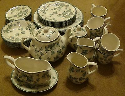 British Home Stores Country Vine Tea Set and Dinner Plates