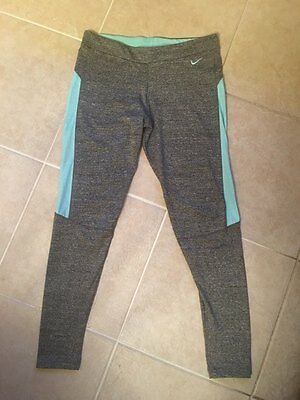 Nike Running Grey Marl Leggings Size 8-10 M