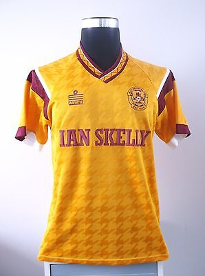 Motherwell Home Football Shirt Jersey 1990/1991 (M) Scottish Cup Winners