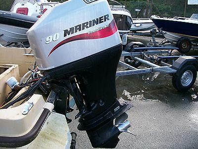 2005 Mariner 90 Hp Four Stroke Long Shaft Ptt Outboard Engine Motor