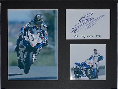 Guy Martin signed mounted autograph 8x6 photo print display   #T5