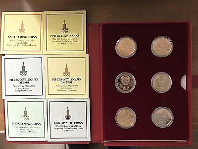 1980 USSR Olympic 100 Rouble Gold Coins