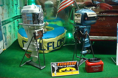 New Vintage Looking Steel Toy Outboard Motor Stand Display K & O