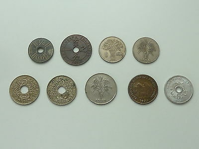 9 French Indo China / South Vietnam Coins 1938 - 1975